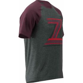 Zimtstern The-Z Koszulka Mężczyźni, gun metal melange/ windsor wine